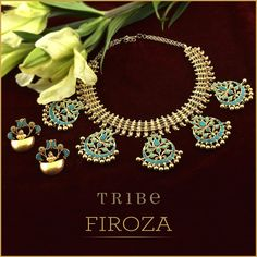 Make #mondayblues better with Firoza ~ a collection of handcrafted silver jewellery beautified with turquoise blue. #Tribe #TribeByAmrapali #AmrapaliOnline #Amrapali