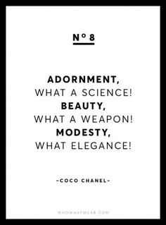 914a74cbd434 16 Best I am a fan images | Coco chanel quotes, Fashion quotes ...