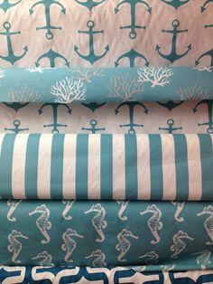Beachy stuff - Para uma decoração praiana...nada mais lindo do que esses padrões de tecido.
