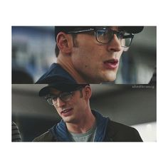 Captain America rocking the geek-chic look!