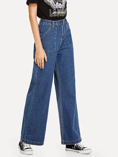 Jean Shirt Outfits, Outfit Jeans, Red Leather Pants, Look Fashion, Fashion Outfits, Fashion Design, Jeans Trend, Cool Outfits, Casual Outfits