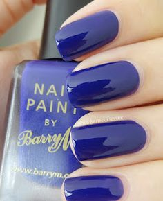 Barry M Indigo.. My favourite nail polish brand!