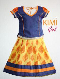 #kids #choli #pattu #pavadai #girls #silk #traditional #designer #creative #indian #lehenga #kidswear #skirt #trendy #children #clothes #new #stylish #kimi #dresses #partywear #apparel #fashion #readymade #girl Baby Girl Dresses, Baby Dress, Cute Dresses, Toddler Dress, Toddler Outfits, Kids Outfits, Kids Lehenga, Indian Lehenga, Frocks For Girls