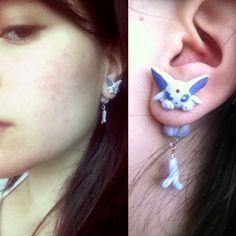 Espeon earrings I choose you Espeon! Go!!