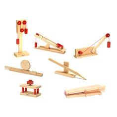 Classic Wooden Models, Desktop Size - Simple Machines Set