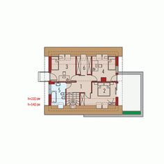 Projekt domu AC Tim (wersja B) CE - DOM - gotowy koszt budowy House Construction Plan, Mocca, Floor Plans, How To Plan, Projects, Floor Plan Drawing, House Floor Plans
