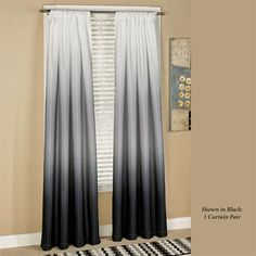 Shades Tailored Curtain Pair 80 x 84 Balloon Curtains, Drapes And Blinds, Family Room Paint, Black Curtains, Family Room Paint Colors, Ombre Curtains, Curtains, Bathroom Window Curtains, Diy Window Shades