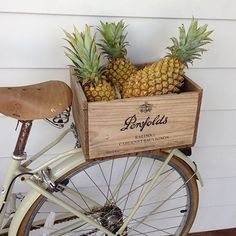 atlantic byron bay / sfgirlbybay oh how I would love a bike filled with pineapples The Grove Byron Bay, Ernst Hemingway, Photo Deco, Hippie Chic, Custom Bikes, Belle Photo, Summer Vibes, Summertime, Fruit