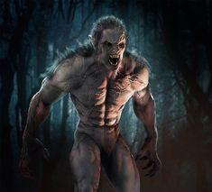 were wolf unchanger Dark Creatures, Creatures Of The Night, Weird Creatures, Fantasy Creatures, Mythical Creatures, Werewolf Vs Vampire, Werewolf Art, Beast Creature, Evil Demons