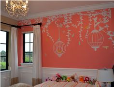 CW/_ Corner Vines Mirror Wall Art Stickers Decals TV Background Home Decor Mystic