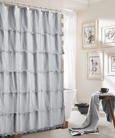 Look at this #zulilyfind! Silver Lily Shower Curtain #zulilyfinds