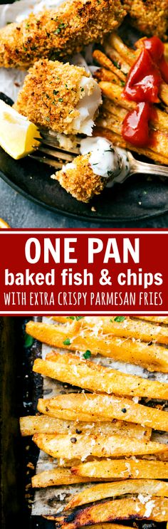 A quick and delicious take on fish and chips -- all baked on just ONE pan. This version is healthier because it isn't baked, but it certainly isn't lacking on flavor! The fries are ultra…