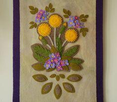 Apliques de lana patrón de Dientes de León por HorseAndBuggyCountry