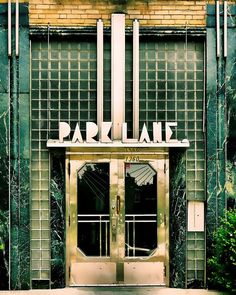 "Montreal photography geometric print art deco architecture green glass chrome urban retro home decor – ""Park Lane Apartments"" 8 x 10 - Decoration For Home Estilo Art Deco, Arte Art Deco, Moda Art Deco, Art Deco Print, Art Nouveau, Goth Vintage, Vintage Green, Interiores Art Deco, Design Industrial"