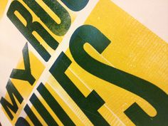 #letterpress #woodtype #poster #type