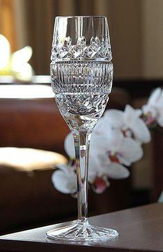 Waterford Celine Flute, Pair: Such a lovely heirloom-crystal look Crystal Wine Glasses, Waterford Crystal, Crystal Glassware, Champagne Glasses, Cut Glass, Glass Art, Cristal Art, Vases, Crystal Collection