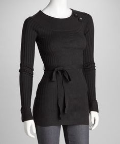 Take a look at this Charcoal Ribbed Button Sweater by Sweater Weather Collection on #zulily today!