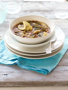 Fresh dill, lemon, escarole and artichokes give this healthy slow-cooker lamb stew recipe a decidedly springtime flavor. Dried white beans are perfect in this healthy dump & go crock pot recipe, but you could also add frozen lima beans at the end.