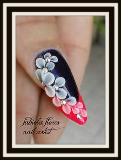 Acrylic flowers nails