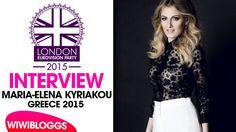 Interview: Maria Elena Kyriakou (Greece) @ London Eurovision Party 2015 ...