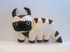 Appa Plush Inspired by Avatar The Last Airbender Flying Bison Plushie (16.00 USD) by FabroCreations