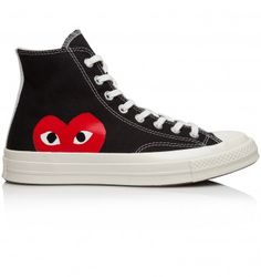 Trouva: Comme Des Garçons Play Converse Chuck Taylor All Star Hi Sneakers Designer Trainers, Designer Clothes For Men, Converse Chuck Taylor All Star, Online Fashion Stores, London Fashion, High Top Sneakers, Footwear, Pairs, Play