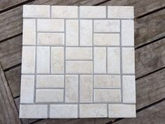 Mosaic Trivet 8x8-inch Square Contemporary Bone by gcbmosaics