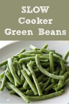 Slow Cooker Green Beans :: Using your crockpot | Fresh Garden Veggies Recipes