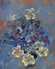 """Acrylbild """"Blumentanz"""" Acrylmalerei von Elfensteins - Größe: 25x30 cm --- www.elfensteins-acrylmalerei.de"""