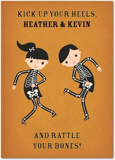 Bone Boogie - Halloween Greeting Cards in Rust   Rosy Designs