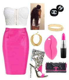 """""""I wear pink for my Auntie"""" by t3seeu on Polyvore featuring NLY Trend, STELLA McCARTNEY, Chanel, MAC Cosmetics, Ben-Amun and Michael Kors"""