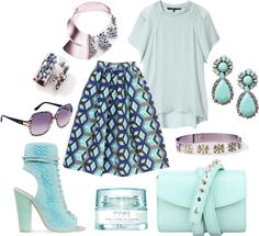 """492. Baby Blue & Lilac"" by cherieaustin ❤ liked on Polyvore"