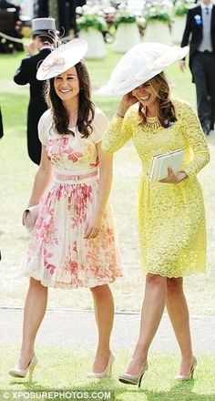 Spring is in the air! Pippa Middleton but I like the yellow dress better!  Ooopppss did I just say that?