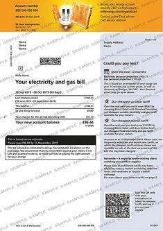 EDF Utility Bill Utility Bill, Bank Statement, Names