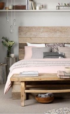 Grey, wood and dusky pink