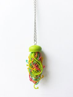 Fluorescent Colored Handmade Jellyfish Necklace