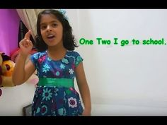 English action song (one, two, I go to school...)for kids LKG/UKG