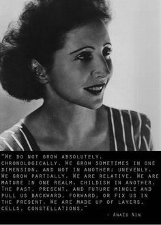 """""""Layers, cells, constellations"""" Anais Nin"""