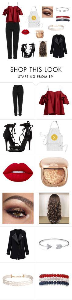 """""""waitress girl - restaurant london"""" by sarah4ever123 ❤ liked on Polyvore featuring Topshop, Anna October, Schutz, Lime Crime, Bling Jewelry, Humble Chic and Kim Rogers"""