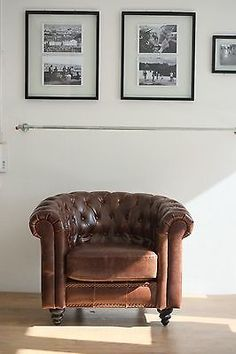 conrad vintage cigar leather chesterfield armchair. Black Bedroom Furniture Sets. Home Design Ideas