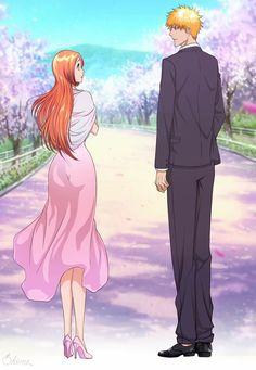 """Ichigo and Orihime We Do knot Always Love You - His confession "" So i colored it) The second pic is a wallpaper Hope you'll like it) P. Ichigo E Orihime, Bleach Couples, Makoto, Bleach Manga, Shinigami, Disney Cartoons, Shoujo, Anime Naruto, Anime Love"