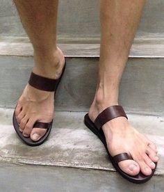 Hecho a Mano Cuero Hombres Sandalias Informales Romano Flip Multi-US Boho Hippie Mujer Zapatos