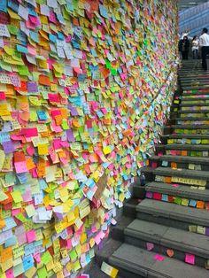 Lennon Wall, Harcourt Road, Admiralty, Hong Kong - Umbrella Movement 2014 (Short-term work adventures with Hong Kong #startups: https://jobbatical.com/explore/Hong+Kong)
