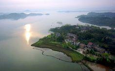 مناظر خلابة من بحيرة وانفو