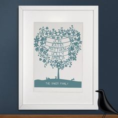 Personalised Family Heart Tree Print from notonthehighstreet.com