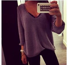 Baggy slouchy sweaters.. Super comfy and cute for fall  <3