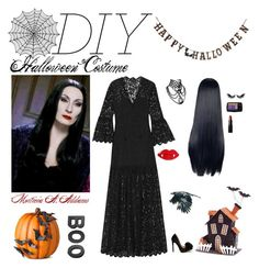 """""""DIY Halloween Costume"""" by sophie-poualion on Polyvore featuring Rachel Zoe, Lancôme, NARS Cosmetics, MAKE UP FOR EVER, Improvements, Creative Co-op, Crate and Barrel, Melrose International, halloweencostume and DIYHalloween"""