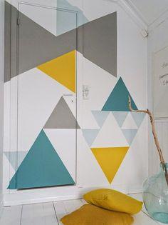 Wall decor: decorare le pareti con i triangoli • Tulimami