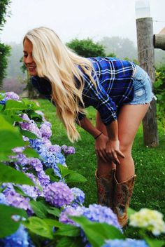 Daisy dukes, plaid shirt, and cowboy boots, are part of every girl from the Souths wardrobe