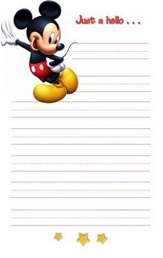Mickey Stationary